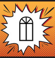 window simple sign comics style icon on vector image