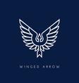 winged arrow vector image