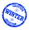 winter collection stamp for retail store isolated vector image vector image