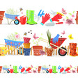 collection of seamless borders with colorful vector image