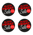 black friday sale sticker set isolated on vector image