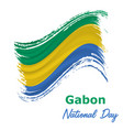17 august gabon independence day background vector image vector image