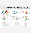 3d perspective infographics pack vertical vector image