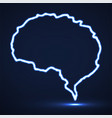 abstract brain of glowing contour vector image
