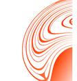 abstract orange design vector image