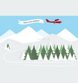 airplane with banner vector image vector image