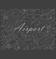 airport piece of chalk line art design vector image vector image