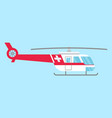 ambulance helicopter red medical evacuation vector image