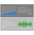 analytics collection graphic vector image