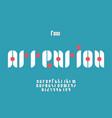 attention font alphabet vector image