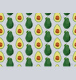 avocado seamless pattern on gray background vector image vector image
