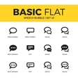 Basic set of Speech bubble icons vector image vector image