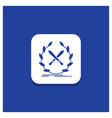 blue round button for battle emblem game label vector image