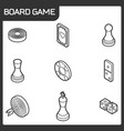 board game outline isometric icons vector image vector image