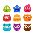 Bright Jelly Characters with Emotions vector image vector image