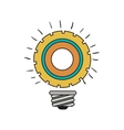 bulb light icon vector image vector image