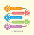 business infographic data graph vector image