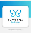 butterfly logo design inspiration vector image