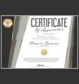 certificate retro design template 01 vector image vector image