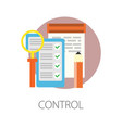 control checklist modern technology development vector image vector image