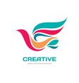 creative - abstract colored bird logo temp vector image vector image