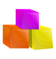 cube toys icon cartoon style vector image vector image