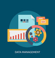 data management conceptual design vector image vector image