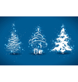 decorative christmas trees vector image vector image