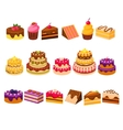 Different Cakes Collection vector image vector image