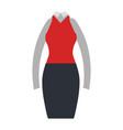 elegant femenine costume icon vector image vector image
