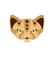 Fennec Fox African Animals Stylized Geometric Head vector image