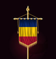 flag of romania festive vertical banner wall vector image vector image