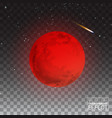 full red moon realistic detailed isolated on vector image