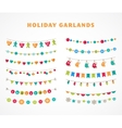 Garland - patterns brushes for Christmas vector image vector image