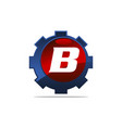 gear logo letter b vector image vector image