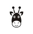 Giraffe head icon vector image vector image