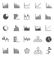 Graph icons on white background vector image vector image
