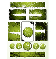 Green floral designs