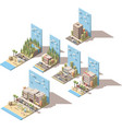 isometric car travel vector image vector image