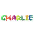 male name charlie text balloons vector image vector image