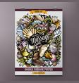 massage hand drawn doodles spa salon vector image vector image