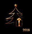 merry christmas celebration background gold xmas vector image vector image