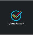 modern colorful checkmark logo icon template vector image vector image