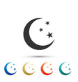 moon and stars icon isolated on white background vector image