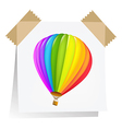 Notes Paper With Air Balloon vector image vector image