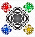 octagonal logo template in celtic knots style vector image vector image