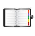 open address book realistic icon vector image
