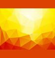 orange sun geometric mosaic background vector image