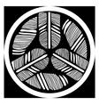 Ornamental round feathers mandala tatoo design vector image vector image