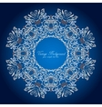 Ornamental round lace patternDelicate circle vector image